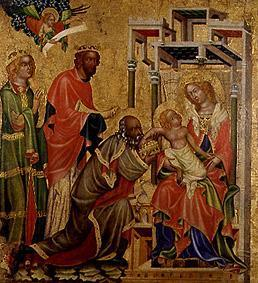 Meister d.Altars von Hohenfurth : The adoration of the St. t...