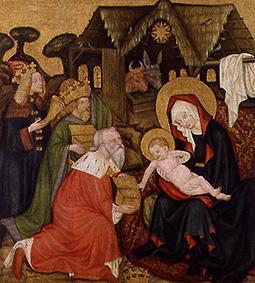 Meister d.Jakobsaltars, tschechisch : The adoration of the St. t...
