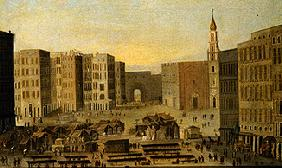 View of the Piazza del Carmine in Naples