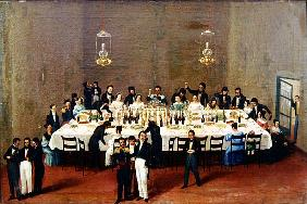 Banquet given at Oaxaca in honour of general Antonio Leon