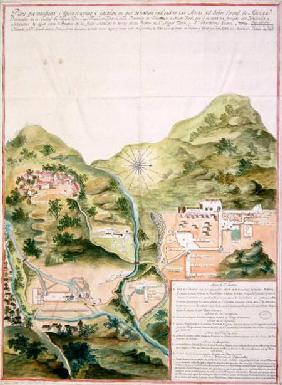 Plan of the Mines of Oaxaca, Mexico