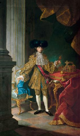 Emperor Joseph II. of Austria with the coronation insignia