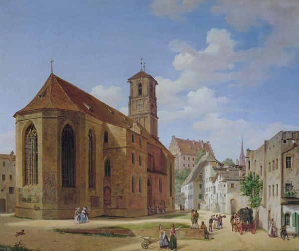 Neher, Michael : The Church Square in Wasse...