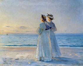 Ancher, Michael Peter : Two Women on the Beach