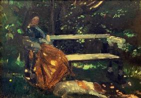 Ancher, Michael Peter : Anna Ancher , In the Garde...