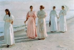 Ancher, Michael Peter : Promenade on the Beach