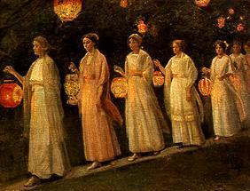 Ancher, Michael Peter : Garden party. The Chinese ...
