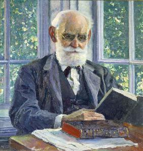Portrait of the physiologist, psychologist, and physician Ivan P. Pavlov (1849-1936)