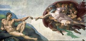 The Creation of Adam, Creation of Man