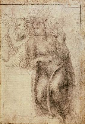 Inv.1895-9-15-516.recto (w.72) Study for the Annunciation