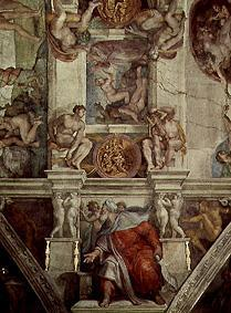 Ceiling fresco of the Sistine chapel in Rome: The creation of Eva