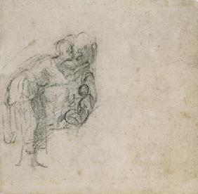 Study of a group of Figures, c.1511 (black chalk on paper)