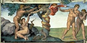 Sistine Chapel Ceiling (1508-12): The Fall of Man