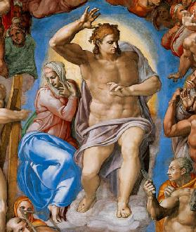 (the Last Judgement -- Christ and Maria part a Sistine chapel)
