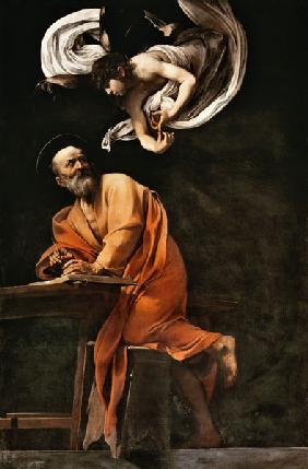 Caravaggio, Michelangelo : St. Matthew and the Angel