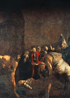 Caravaggio / Burial of St.Lucy / 1608
