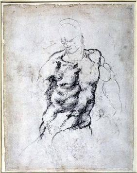 Figure Study, black chalk