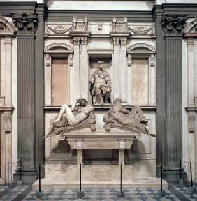 Tomb of Giuliano de' Medici, Duke of Nemours (1479-1516) with the figures of Day and Night