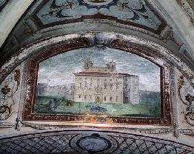 Detail of a fresco, Villa Medicea di Careggi (fresco)
