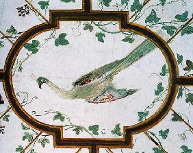 Detail of the ceiling of the cellar, Villa Medicea di Careggi (photo)