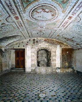 Interior view of the cellar, Villa Medicea di Careggi (photo)