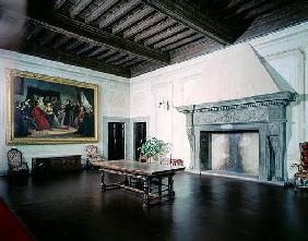 Interior with Fifteenth Century Fireplace, Villa Medicea di Careggi (photo)