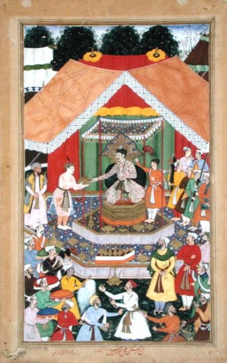 Emperor Akbar R 1556 1605 Entertained Mughal School As