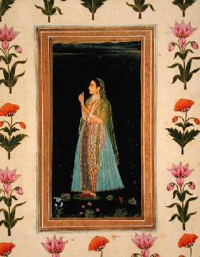 Lady holding a blossom, from the Small Clive Album
