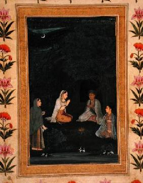 Lady visiting an ashram at night, from the Small Clive Album