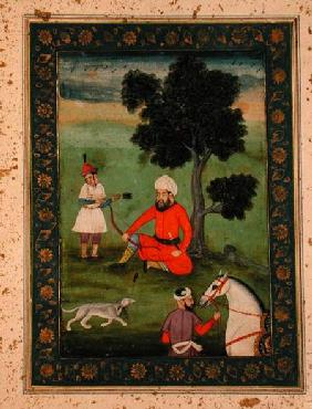 A Trans-Oxonian nobleman seated beneath a tree, from the Large Clive Album