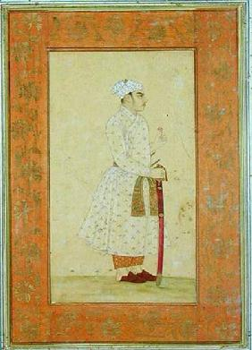 A young nobleman of the Mughal court, from the Large Clive Album  drawing with w/c on