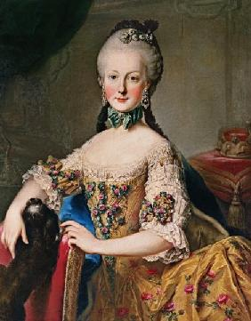 Archduchess Maria Elisabeth Habsburg-Lothringen (1743-1808) sixth child of Empress Maria Theresa of