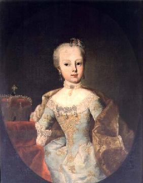 Archduchess Maria Josepha Habsburg-Lothringen (1751-67) twelveth child of Empress Maria Theresa of A