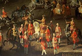 A Cavalcade in the Winter Riding School of the Vienna Hof to celebrate the defeat of the French army