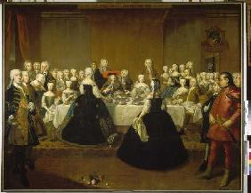 Banquet on the occasion of the wedding of Maria Theresias