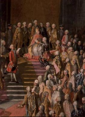 The Investiture of Joseph II (1741-90) Emperor of Germany in Frankfurt Cathedral, following his coro