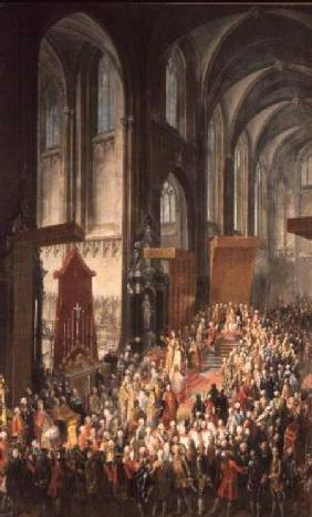 The Investiture Joseph II (1741-90) following his coronation as Emperor of Germany in Frankfurt Cath
