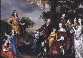 Portrait of W. van der Kerckhoven and his family