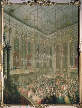 Recital by the Young Wolfgang Amadeus Mozart in the Redoutensaal, on the occasion of the wedding of