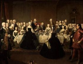 Wedding Breakfast of Empress Maria Theresa of Austria and Francis of Lorraine, later Francis I