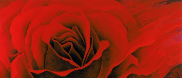 The Rose, in the Festival of Light, 1995 (acrylic on canvas)