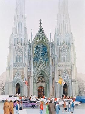 St. Patrick''s Cathedral, New York, 1990 (w/c on paper)