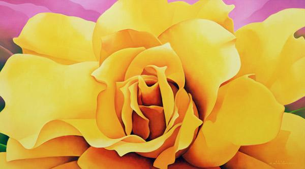 The Golden Rose, 2004 (oil on canvas)