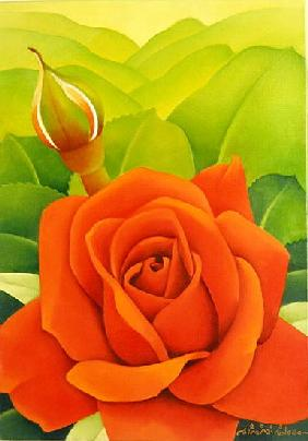 The Rose, 2003 (oil on canvas)