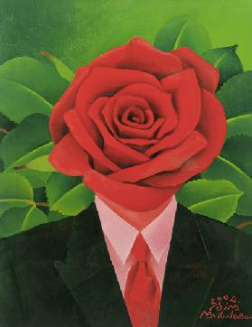 The Rose Man, 2004 (oil on canvas)