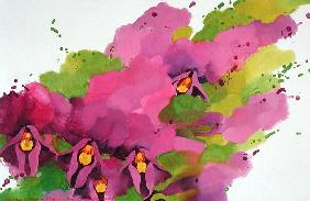 Violets, 1995 (acrylic on canvas)