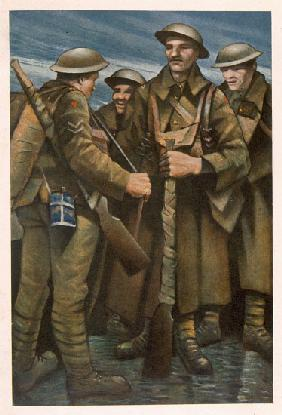 A Group of Soldiers, from British Artists at the Front, Continuation of The Western Front