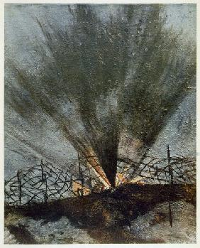 Bursting Shell, from British Artists at the Front, Continuation of The Western Front