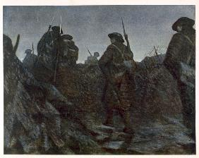 Reliefs at Dawn, from British Artists at the Front, Continuation of The Western Front