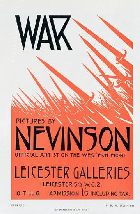 War Pictures by Nevinson, Official Artist on the Western Front, poster for an exhibition